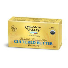 ORGANIC VALLEY UNSALTED - EUROPEAN STYLE CULTURED BUTTER