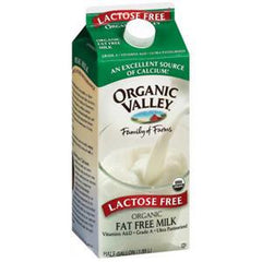 ORGANIC VALLEY FAT FREE LACTOSE FREE ORGANIC MILK