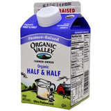 ORGANIC VALLEY HALF & HALF MILK