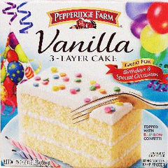 PEPPERIDGE FARM 3 LAYER CAKE - VANILLA