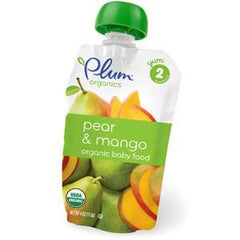 PLUM ORGANIC SECOND BLENDS PEAR & MANGO BABY FOOD
