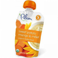 PLUM ORGANIC SECOND BLENDS FRUIT & GRAIN SWEET POTATO MANGO & MILLET