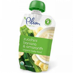 PLUM ORGANIC SECOND BLENDS FRUIT & GRAIN ZUCCHINI & AMARANTH BABY FOOD