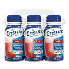 ENSURE PLUS STRAWBERRY NUTRITION SHAKE 6 PACK