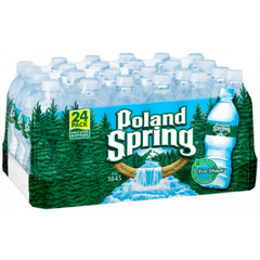 POLAND SPRING WATER 24 - 28 PACK - 16.9 FL OZ EACH