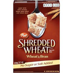 POST SHREDDED WHEAT N BRAN CEREAL