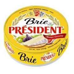 PRESIDENT BRIE ALL NATURAL SOFT RIPENED CHEESE