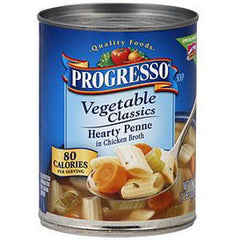 PROGRESSO CLASSIC HEARTY PENNE CHICKEN BROTH