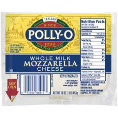 POLLY-O WHOLE MILK MOZZARELLA CHEESE