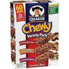 QUAKER CHEWY VARIETY PACK OATMEAL