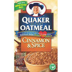 QUAKER INSTANT OATMEAL MAPLE AND BROWN SUGAR