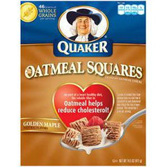 QUAKER OATMEAL SQUARES NATURAL GOLDEN MAPLE FLAVOR