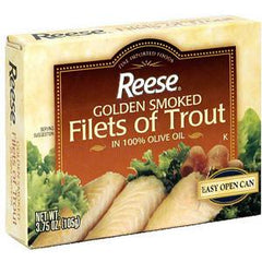 REESE GOLDEN SMOKED FILETS OF TROUT IN OLIVE OIL