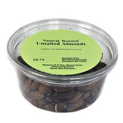 BROOKLYN FARE NATURAL ROASTED UNSALTED ALMONDS