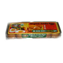 SAUDERS ORGANIC JUMBO BROWN EGGS - CAGE FREE