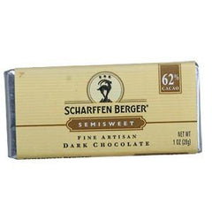 SCHARFFEN BERGER SEMISWEET DARK CHOCOLATE - 62 %