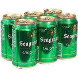 SEAGRAM'S GINGER ALE - CAFFEINE FREE - 6 PACK CAN