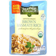 SEEDS OF CHANGE ORGANIC BROWN BASMATI RICE - MICROWAVE 90 SECONDS