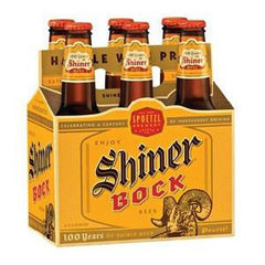 SHINER BOCK BEER 6 PACK - 12 FLOZ EACH BOTTLE