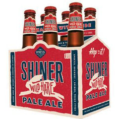 SHINER WILD HARE PALE ALE BEER - 6 PACK - 12 FL OZ EACH BOTTLE