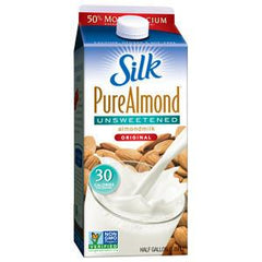 SILK PURE ALMOND UNSWEETENED - ALL NATURAL ALMONDMILK - 30 CALORIES