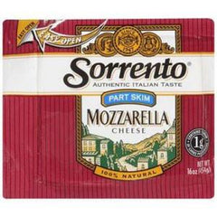 SORRENTO PART SKIM MOZZARELLA CHEESE 100% NATURAL