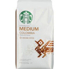 STARBUCKS MEDIUM COLOMBIAN GROUND COFFEE