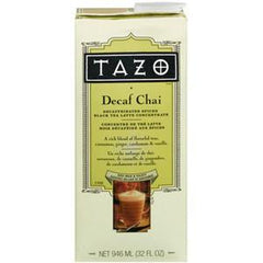 TAZO DECAFFEINATED SPICED BLACK TEA LATTE CONCENTRATE
