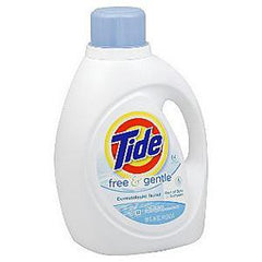 TIDE 2 X ULTRA FREE  & CLEAR LAUNDRY DETERGENT - 64 LOADS