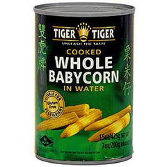 TIGER TIGER COOKED WHOLE BABY CORN IN WATER