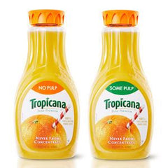 TROPICANA ORANGE JUICE NO PULP, TWIST-OFF