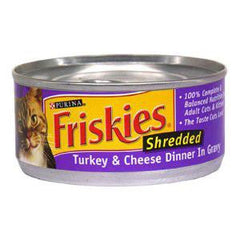 FRISKIES SHREDDED TURKEY & CHEESE DINNER IN GRAVY