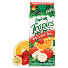 TROPICANA TROPICS ORANGE STRAWBERRY BANANA JUICE