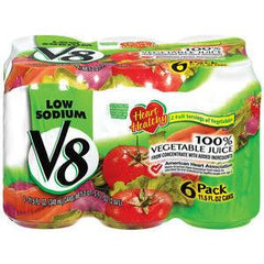 V8 VEGETABLE LOW SODIUM 6PK