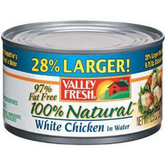 VALLEY FRESH 100% NATURAL CHICKEN BREAST IN WATER