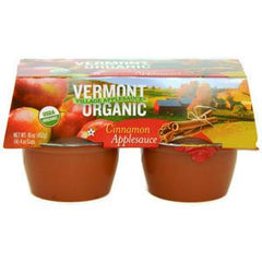 VERMONT VILLAGE CANNERY ORGANIC CINNAMON CUP APPLESAUCE