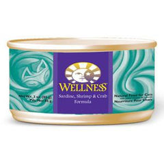WELLNESS SARDINE SHRIMP & CRAB FORMULA CAT FOOD
