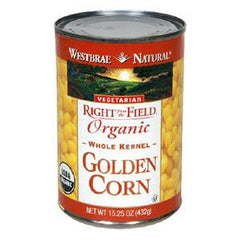 WESTBRAE NATURAL ORGANIC WHOLE KERNEL GOLDEN CORN