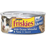 FRISKIES SHREDDED WITH OCEAN WHITEFISH & TUNA IN SAUCE