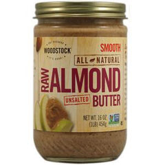 WOODSTOCK ALL NATURAL CRUNCHY ALMOND BUTTER - CRUNCHY