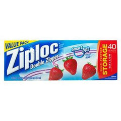 ZIPLOC DOUBLE  ZIPPER STORAGE BAGS - 1 GALLON