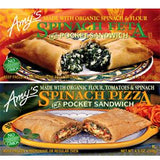 AMY'S ORGANIC CHEESE PIZZA POCKET SANDWICH