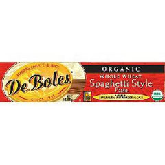 DE BOLES ORGANIC WHOLE WHEAT SPAGHETTI STYLE PASTA