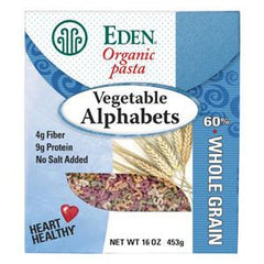EDEN ORGANIC VEGETABLE ALPHABETS WHOLE GRAIN PASTA