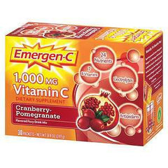 EMERGEN-C 1000 MG VITAMIN C FIZZY CRANBERRY POMEGRANATE DRINK MIX