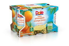 DOLE 100% PINEAPPLE ORANGE JUICE 6 PK