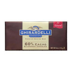 GHIRARDELLI 60% CACAO BITTER SWEET CHOCOLATE