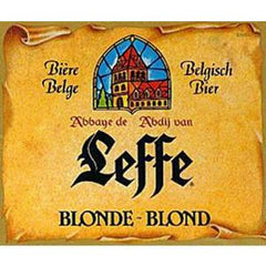 LEFFE BLONDE BLOND BEER BOTTLE