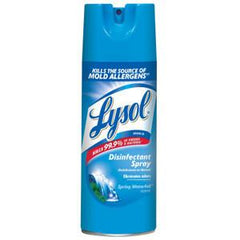 LYSOL DISINFECTANT SPRAY SPRING WATERFULL SCENT ELIMINATES ODORS