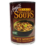 AMY'S ORGANIC SOUPS HEARTHY MINESTRONE WITH VEGETABLES